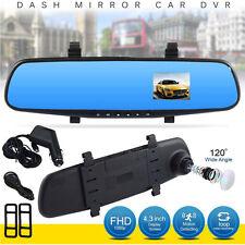 1080P 4.3 inch HD LCD Car Mirror Camera HD Vehicle DVR Cam Recorder Dashboard