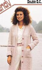 ARAN COAT /double 8ply or DK - COPY Ladies knitting pattern