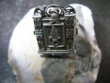 Rarer- Art-De-Co-Fremden-Legion-830-Silber-Ring-Handarbeit-1945-60