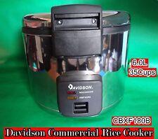 Davidson S/Steel Heavy Duty Commercial Rice Cooker 6L/35Cups CFXB180B -Demo D900