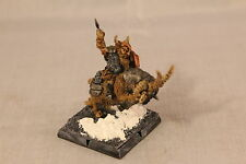 Warhammer Dwarf Lord on Mountain Goat Well Painted