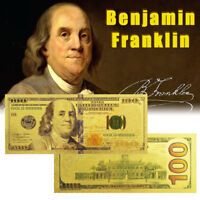WR Latest Gold US Note $100 One Hundred Dollars 24K Gold Banknote Collector Bill