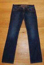 Damen Stretch Jeans Hose 33/34 Edc by Esprit FIVE straight W33 L34 blau