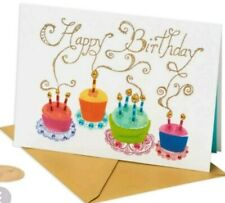 Papyrus Cakes Candles Forming Happy Birthday Card Glitter Gem Envelope Seal