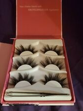 Swinging Hair 3D Mink Eyelashes - Soft Light Natural Fluffy - 3 Pairs