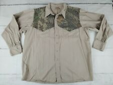 Vintage Men's Team Realtree Long Sleeve Hunting Shirt Camo Made IN USA Size 2XL