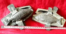 N° 334- ANCIENS MOULES A CHOCOLAT /2 POISSONS 14cm  4 PARTIES  chocolate mold-