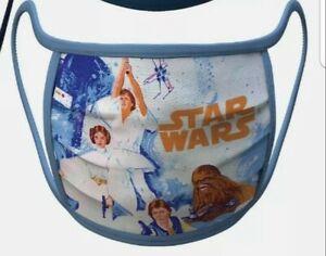 NEW Disney Star Wars Trilogy Cloth Face Mask Size Large Han Solo Luke Leia