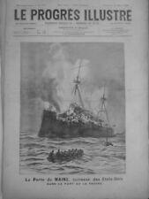 1898 CUBA GUERRE ESPAGNE  4  NEWSPAPERS