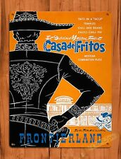 "TIN-UPS Walt Disney Tin Sign ""Casa Fritos"" Mexican Vintage Ride Art Poster"