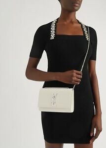 Brand New in box Saint Laurent Kate medium off white leather bag RRP £1,415