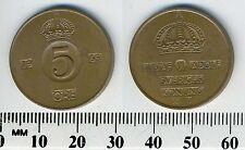 Sweden 1965 - 5 Ore Bronze Coin - King Gustaf VI Adolf