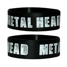 METAL HEAD bracciale di gomma Alta Qualità 100% Ufficiale Nuovo