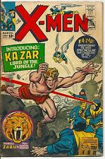X-Men 10 Marvel Silver Age 1965 First Silver Age Ka-Zar and Zabu 1st Maa-Gor, 1s