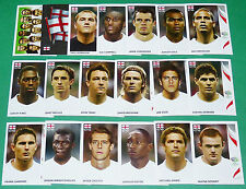 PANINI FOOTBALL GERMANY 2006 ENGLAND BECKHAM COMPLET COUPE MONDE FIFA WORLD CUP