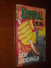 KRIMINAL n. 269 - L'INCUBO SULLA CORNOVAGLIA - MAGAZZINO - ago. 1970 - Ed. Corno