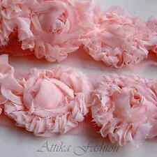 Pink Roses --- French Lace Trim *Per yard* *Very wide*