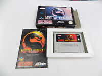 Boxed SNES Super Nintendo  Mortal Kombat 1 I First Game PAL - Free Postage