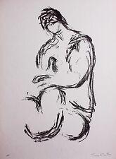 Toni Stadler – Weiblicher Akt (Female Nude) – Hand-Signed Original Lithograph
