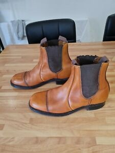 VINTAGE TAN  LEATHER BOOTS UK 8