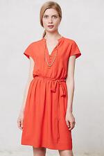 Sz. Small Red / Orange Anthropologie Odilia Shirtdress (retail $128)