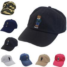 Polo Baseball Cap Embroidery Stripe Bear Hat Football Golf Cap Outdoor Sun proof