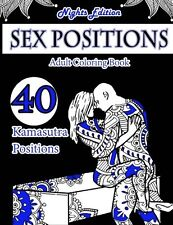 Kamasutra Sex Position Adult Colouring Book 40 Positions Black Paper Relax Black