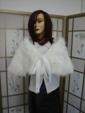 BRAND NEW WHITE FOX FUR STOLE WRAP WEDDING WOMEN