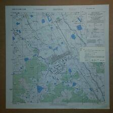 1945 Us Army Map City Plan of Zentsuji, Kagawa Prefecture, Shikoku, Japan