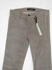 NEW J Brand Leather Bonded Studs Side Khaki Grey Stretch Legging Pants  25 $1099