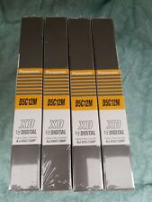 "Lot of 4 New Panasonic D5C12M /AJ-D5C12MP XD 1/2""Digital Cassette:12/24"