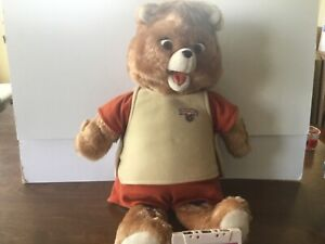 Vintage Teddy Ruxpin 1985 Animated Bear In Original Suit Tape, All About Bears