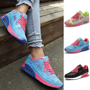 Women's Ladies Sneakers Lace Up Trainers Running Sports Gym Jogging Shoes Sizes