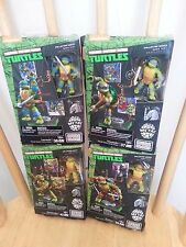 "Mega Bloks CLASSIC METAL TMNT Teenage Mutant Ninja Turtles retro 4 2"" figure SET"