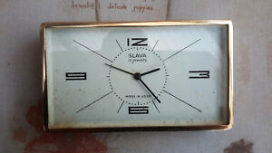 SLAVA 11 Jewels Clock Made in USSR (Stand Missing)