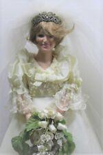 A21 Danbury Mint Princess Lady Diana Spencer Porcelain Bride Doll Wedding Gown