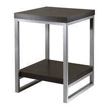 Jared End Table, Enamel Steel Tube-Winsome 93418 NEW