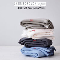 Gainsborough 400GSM 100% Australian Machine Washable Wool Blanket in All Sizes