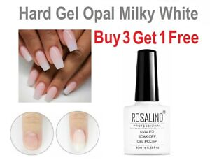 Hard Gel Milky White Liquid Builder Gel Extensions Or Overlay Over Natural Nails