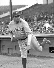 "Babe Ruth - 8"" x 10"" Photo- 1930- New York Yankees Baseball- Pitching"