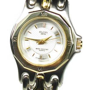 ELGIN women's watch Model ELS241-040 Silver and Gold tone - SMALL wrist - Quartz