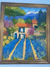 Georges Flanet Provence Oil Painting France HOUSE Lavender ST TROPEZ framed