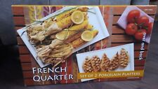 FRENCH QUARTER -  X 2 Large Porcelain Serving Platters - New in Box