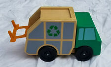 Melissa And Doug Garbage Recycling Truck Toy #4549 Wood and Plastic Clean Nice