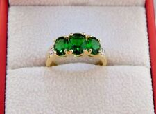 Handmade Emerald Oval Costume Rings