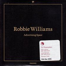 ROBBIE WILLIAMS Advertising Space UK 1-trk promo CD