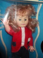 """Vtg Lovee Fran Walking Doll Beautiful Walker 23"""" Large New Pink Hair Sleepy Eyes"""