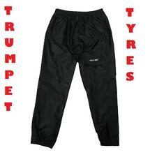 Moto de Lujo Negro Lluvia Cubre-Pantalón a Prueba de Agua y Viento Medio A 2XL