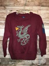 NWT BABY GAP BOYS DRAGON SWEATER MAROON BURGUNDY 3T 3 YEARS PULLOVER INTARSIA