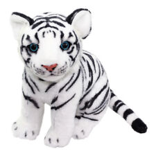 White Tiger Plush Doll Super Soft Cute Stuffed Animal Toy White Black Big Size